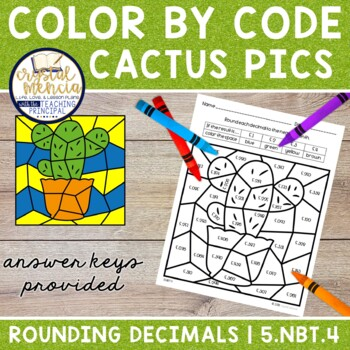 5NBT4 Rounding Decimals *COLOR BY CODE* Mystery Pictures for 5th Grade