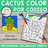 5NBT4 SPANISH Rounding Decimals *COLOR BY CODE* Mystery Pictures