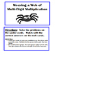 5.NBT.5 Halloween - Weaving a Web of Multi-Digit Multiplic