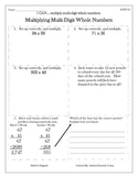 5.NBT.5 - Multiplying Multi-Digit Whole Numbers - CCSS
