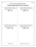 5.NBT.6 - Dividing Whole Numbers - CCSS