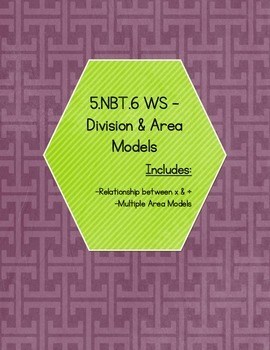 5.NBT.6 - Division and Area Models (KEY INCLUDED)