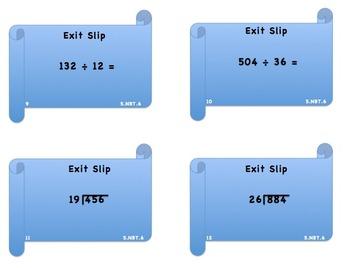 5.NBT.6 Exit Slip