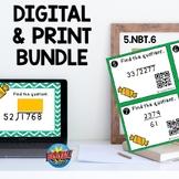 5NBT6 Multidigit Division 4 digit by 2 digit Boom Cards™ a