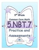 5.NBT.7 5th Grade Common Core Math Practice or Assessments