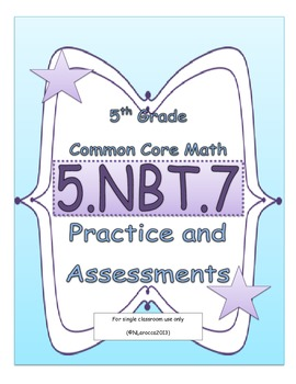 5.NBT.7 5th Grade Common Core Math Practice or Assessments