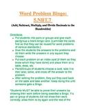 5.NBT.7 Add, Subtract, Multiply, and Divide Decimal Word Problem Bingo