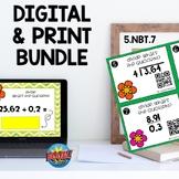 5NBT7 Dividing Decimals by Decimals Boom Cards™ and QR Pri