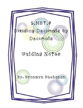 5.NBT.7 Dividing Decimals by Decimals