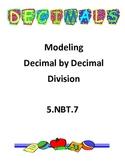 5.NBT.7 Dividing Decimals by Decimals - modeling