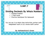 5.NBT.7 Dividing Decimals by Whole Numbers