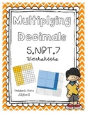 5.NBT.7 Multiplying Decimals Using Partial Product- Area Models