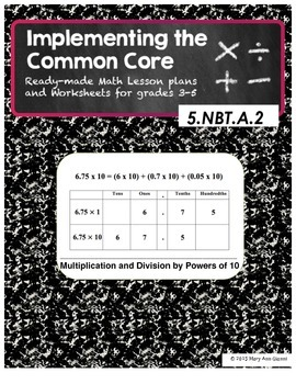 5.NBT.A.2 Multiplication and Division by Powers of Ten