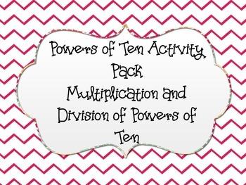 5.NBT.A.2- Powers of Ten Math Pack