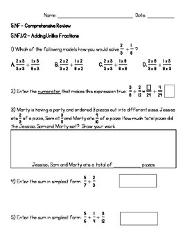 5.NF.1-7 Comprehensive Review Assignment (KEY INCLUDED)