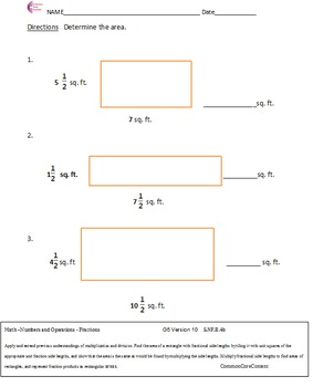 5.NF Fractions All Standards Fifth Grade Common Core Math Worksheets