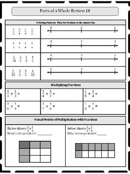 5th Grade Fractions Review 5.NF or Morning Work