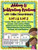 5.NF.1, 5.NF.2 - Adding & Subtracting Fractions w/ Unlike Denominators