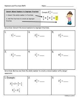 5.NF.1 5th Grade Common Core Math Practice or Assessments Fractions