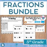 Fractions Bundled Set 5th Grade