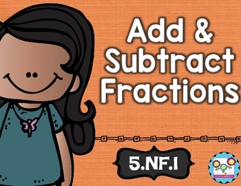 Add and Subtract Fractions With Unlike Denominators Math T