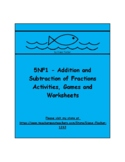 5NF1 - Addition and Subtraction of Fractions - Activities, Games and Worksheets