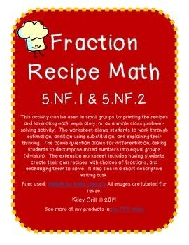 5.NF.1 Fraction Recipe Math
