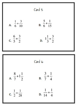 5.NF.1 Fraction Sum Game