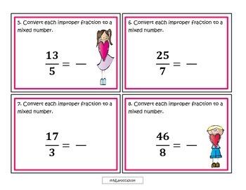 5.NF.1 Fraction Task Cards