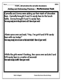 5.NF.1 - Performance Task - Add & Subtract Fractions - CCSS