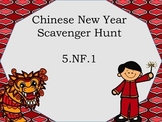 5.NF.1 Scavenger Hunt Chinese New Year Theme