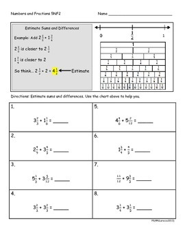 5.NF.2 5th Grade Common Core Math Practice or Assessments Fraction Word Problems