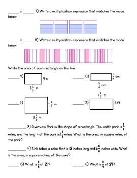 5.NF.3 & 5.NF.4 WS or Quiz- (KEY INCLUDED)