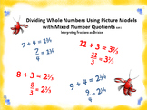 5.NF.3 Dividing Whole Numbers Using Picture Models with Mi