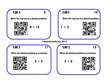 5.NF.3 Task Cards with QR codes!