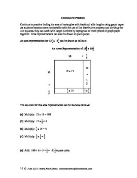 5.NF.B.4.B Finding the Area of Rectangles with Fractional Side Lengths