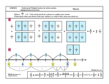 5.NF.5 Multiplication of Fractions
