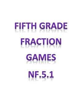 5.NF.1 Fraction Games for Fifth Grade Colored