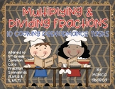 5.NF.6 & 5.NF.7 - Multiplying & Dividing Fractions (10 Performance Tasks)