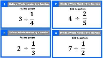 5.NF.7 Dividing Fractions Task Cards