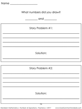 5.NF.7 Fifth Grade Common Core Worksheets, Activity, and Poster