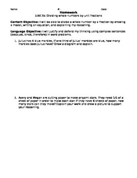 5.NF.7b Homework
