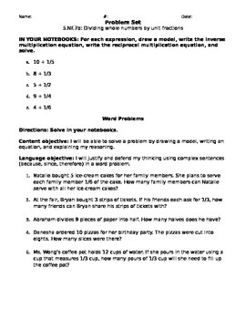 5.NF.7b Problem Set
