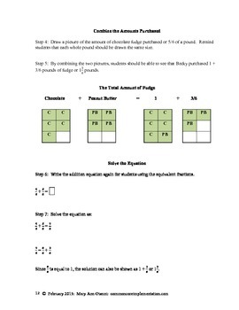 5.NF.A.2 Word Problems Involving the Addition and Subtraction of Fractions