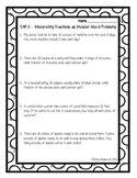 5.NF.B.3 - Interpreting Fractions as Division Test/Practice Sheet