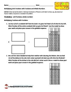 5.NF.B.6  Multiplying Fractions
