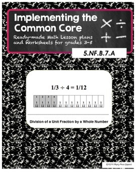 5.NF.B.7.A Division of a Unit Fraction by a Whole Number
