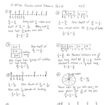5.NS.6 Multiplication of Fractions Word Problems