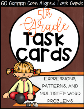 5OA CCSS Standard Based Task Card Bundle - Includes all OA Standards!
