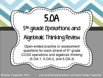 5.OA Task Cards (Order of Operations, Expressions, and Coordinate Grids)